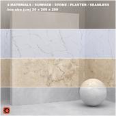 4 materials (seamless) - stone, plaster - set 25