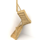 Wooden front staircase