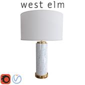 West Elm Pillar Table Lamp Marble