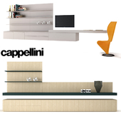 Cappellini Flexi Container wall and S-CHAIR chair