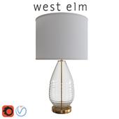 West Elm Ripple Glass Table Lamp