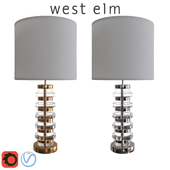 West Elm Clear Disc Table Lamp