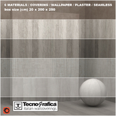 6 materials (seamless) - cover, wallpaper - set 27