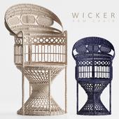 Wicker arm chair 1