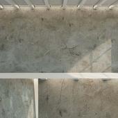 Old concrete.