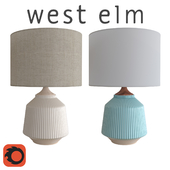 West Elm Roar + Rabbit Ripple Ceramic Table Lamp