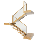 stairs made of wood and glass with backlight Astro 7481 Borgo 43