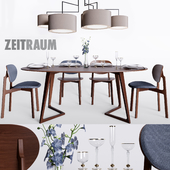 Zeitraum Twist Oval Table & Zenso chair & Noon 5 lamp