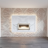WALL WITH FIREPLACE