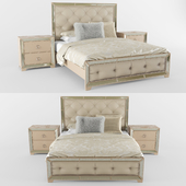Bed Ailey With Mirrored Accents