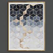Gradient Cubes Art