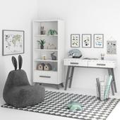 Набор мебели с креслом-пуфом для детской комнаты