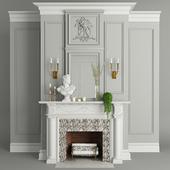 Fireplace, decor, plants