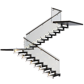 Stairs made of granite, metal and glass with illumination Astro 7481 Borgo 43