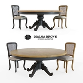 Dialma Brown table and chair