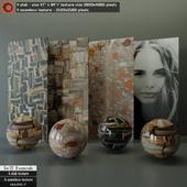 Marble slab & Seamless texture Set 22
