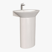 Carabeo Ceramica by Nameek's Wish Pedestal Sink