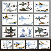 Paintings 165. Military Aviation