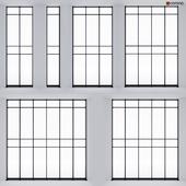 Double-glazed panoramic glazing