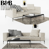 Sofa B & B Italia Simplex with pillows