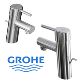 Grohe Concetto Monobloc Basin Mixer Tap With Pop Up Waste