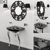 Sink NEW ETOILE (MARLENE CONSOLE) and Mirror BLACK AMELIE Devon Devon