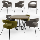 Ellen Dining Chair With Round Table