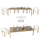 Harbor Outdoor collect and Zara Home table setting
