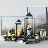 Pottery Barn | Malta Lantern Set .1