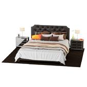 Кровать 2х спальная + тумбы
