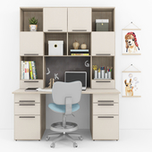 Writing desk and decor for a nursery 9