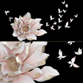 HP Decor_Wall Decor_Flower and Butterfly_II