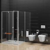 Shower Ravak Pivot and toilet, bidet Ravak Chrome