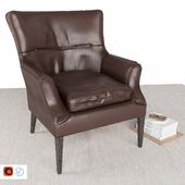 PB Carson leather armchair