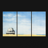 Safavieh Art Collection Dune Buggy Triptych Wall Art