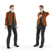 Young man in a jacket
