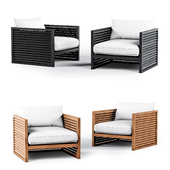 Harbor Outdoor Louver Arm Chair