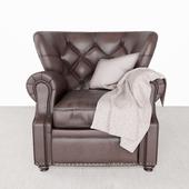 Lansing Leather Recliner Potterybarn