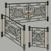 Fences forged, railing