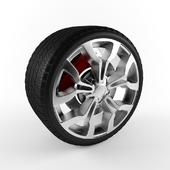 Tire with Alloy Wheel