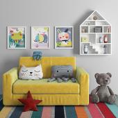 Children's sofa with decor