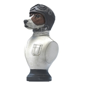 Statuette of a dog pilot