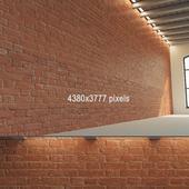 Brick wall (old brick dyed)