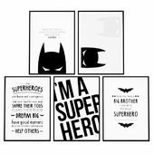Posters for the children's room - Batman superhero.
