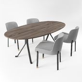 Stellar Works_Blink Dining Chair & Oval Table
