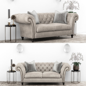 Club Chesterfield sofa set