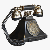 Classic Vintage Telephone with push button dial