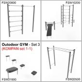 Outodoor GYM - Set 3 (KOMPAN set 1-1)