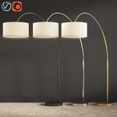 Overarching Linen Shade Floor Lamp West Elm