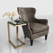 Brielle Nailhead Leather Chair